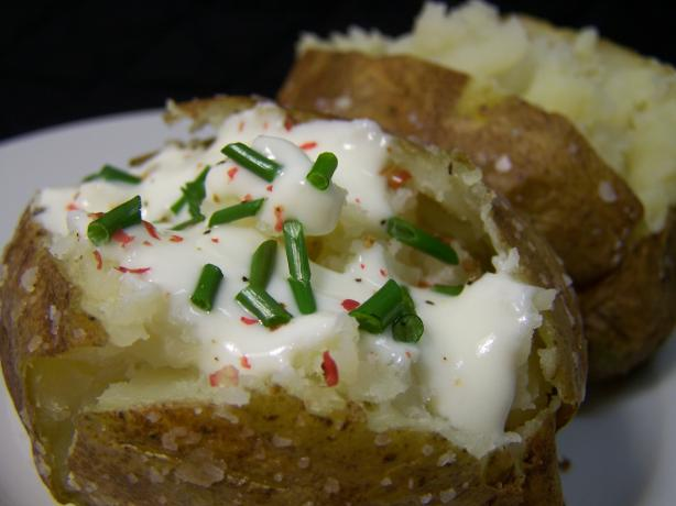 Fast! Potatoes Baked in the Micro and Oven With Sea Salt Crust