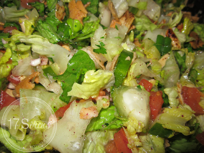 Fattoush ( Toasted Pita Bread Salad )
