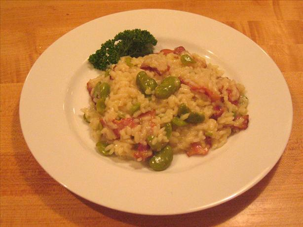 Fava Bean and Bacon Risotto
