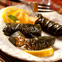 Feta and Lamb Stuffed Grape Leaves