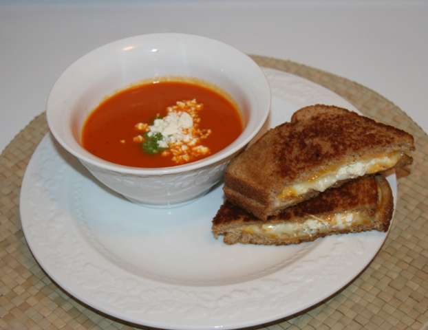 Feta Cheese and Roasted Red Pepper Soup