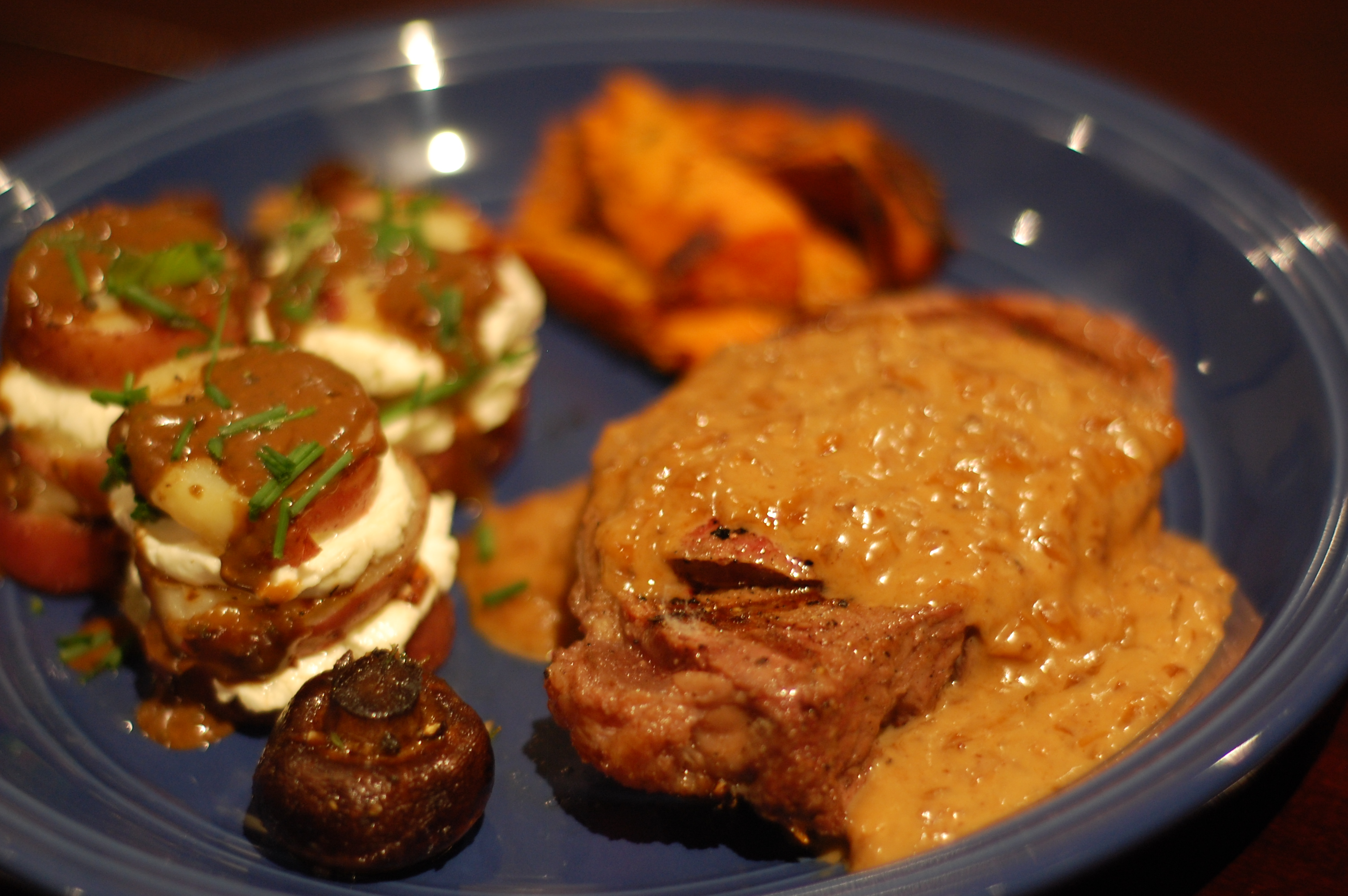 Filet Mignon With Whiskey Cream Sauce