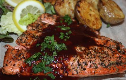 Fillet of Salmon With Pinot Noir Sauce