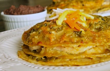 Fred's Green Chile & Chicken Enchiladas