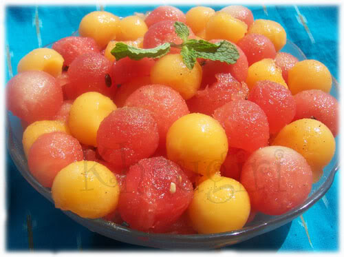 Fresh Mint Melon Ball Salad