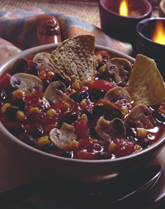 Fresh Mushroom and Chicken Chili