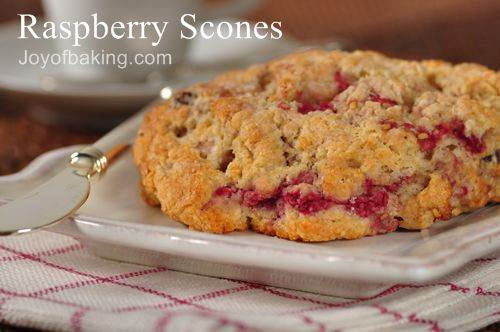 Fresh Raspberry Scones