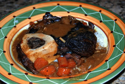 Garlic-Braised Beef Shanks