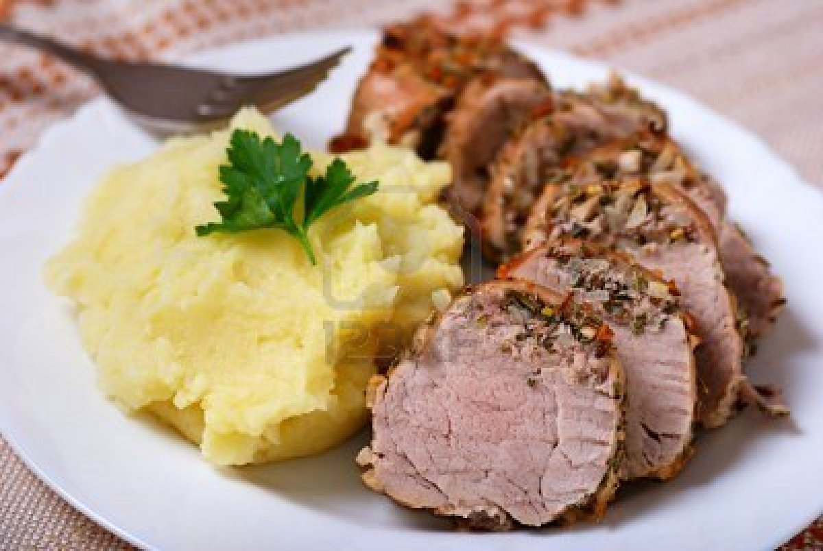Garlic Pork Roast With Thyme