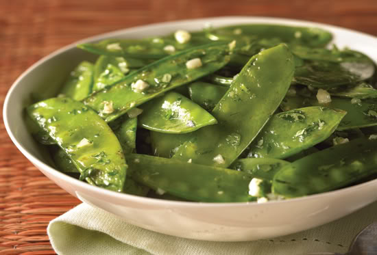 Garlic Snow Peas