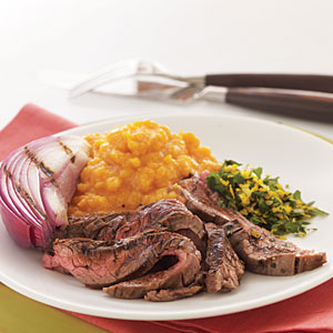 Glazed & Grilled Flank Steak