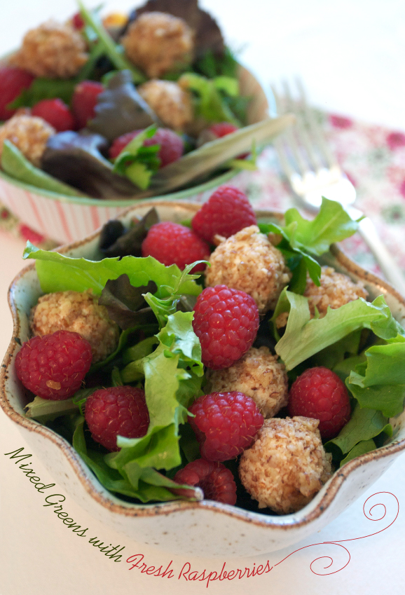 Goat Cheese Salad With Raspberry Dressing