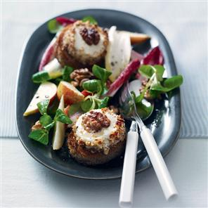 Goat's Cheese With Pear and Walnut Salad