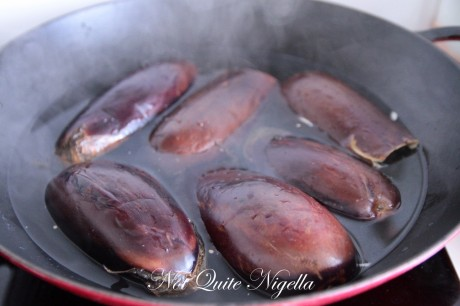 Golden Eggplant (Aubergine) Rounds