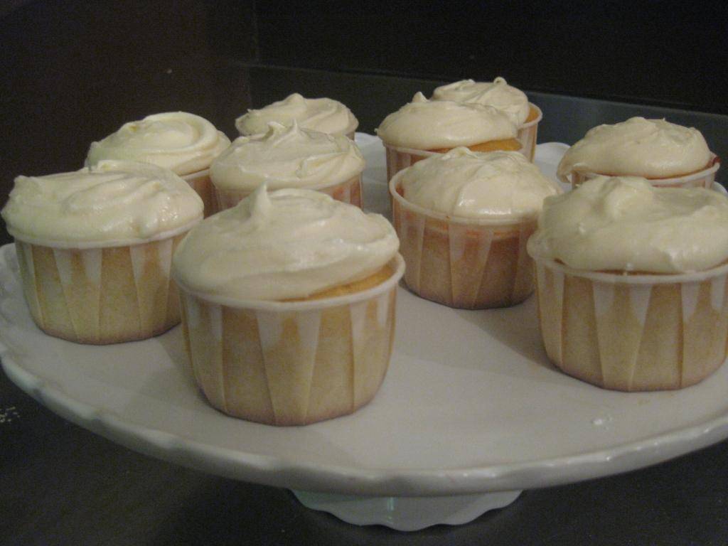 Grapefruit Cupcakes With Chai Icing