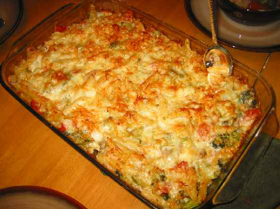 Greek Spinach Pasta Bake
