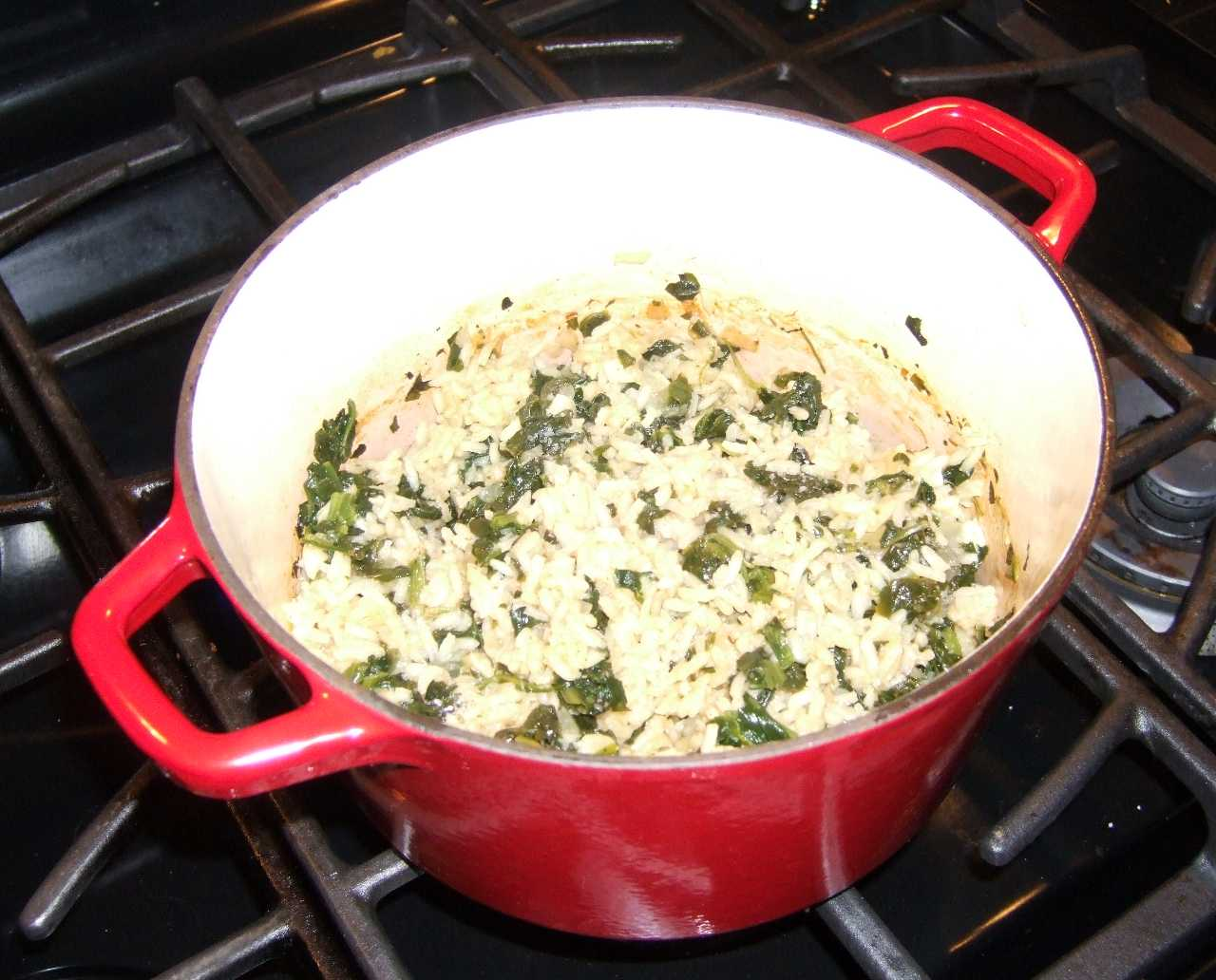 Greek Style Spinach and Rice