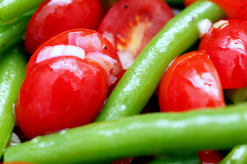Green Bean and Tomato Salad - Recipegreat.com