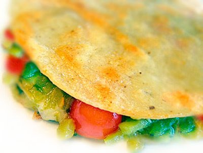 Green chile Quesadillas