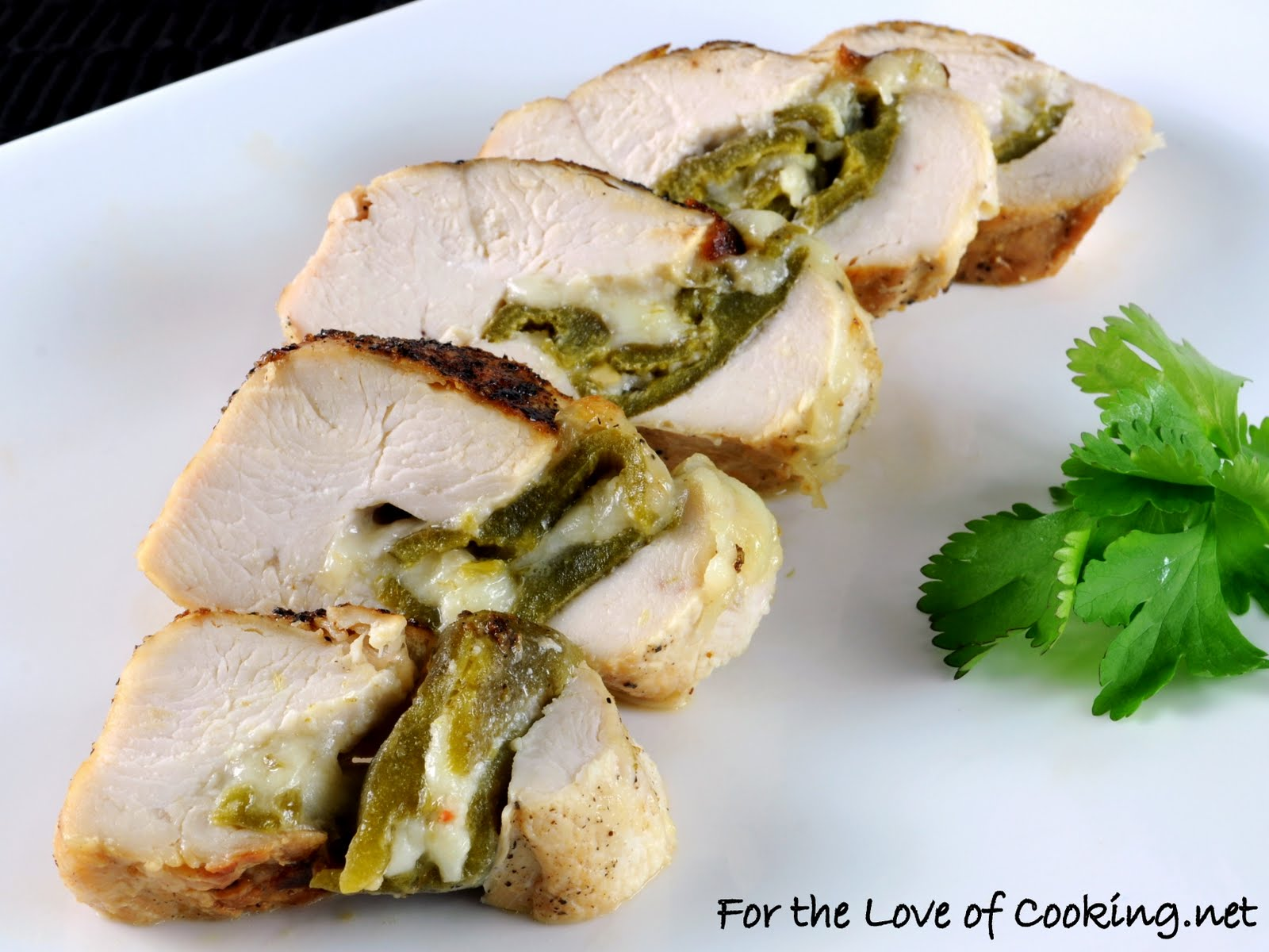 Green Chile Stuffed Chicken Breasts