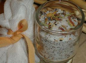 Green Tea Bath Salts Gift in a Jar