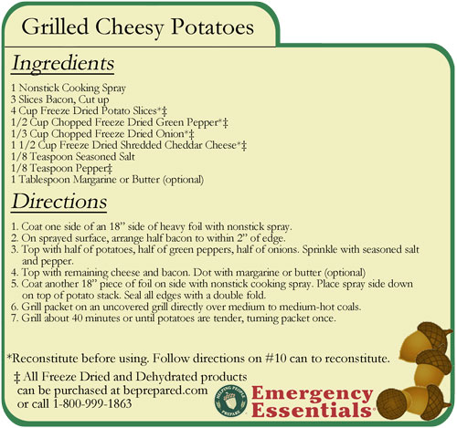 Grilled Cheesy Potatoes