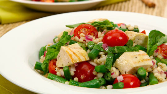 Grilled Chicken Barley Salad