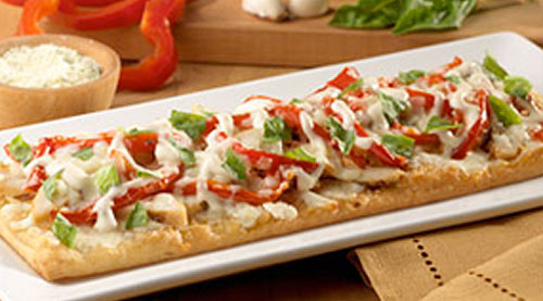 Grilled Chicken Flatbread Pizzas