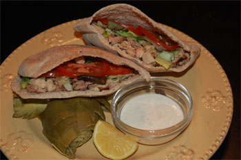 Grilled Greek Style Chicken Pitas