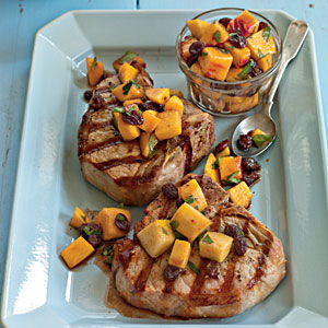 Grilled Pork Chops with Sweet-and-Sour Onions ...