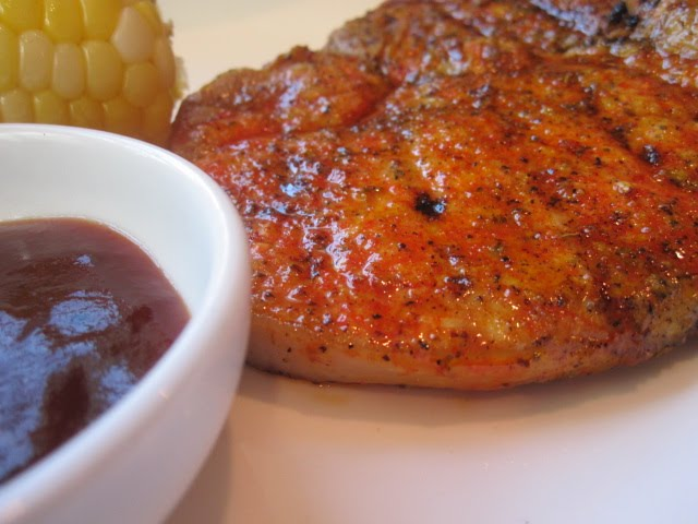Grilled Pork Chops with Sweet-and-Sour Onions - Recipegreat.com
