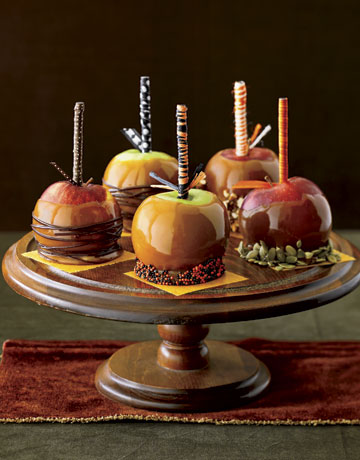 Halloween caramel apples for Caramel apple recipes for halloween