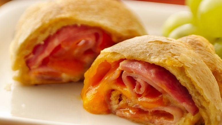 Ham and Cheese Crescent Spirals