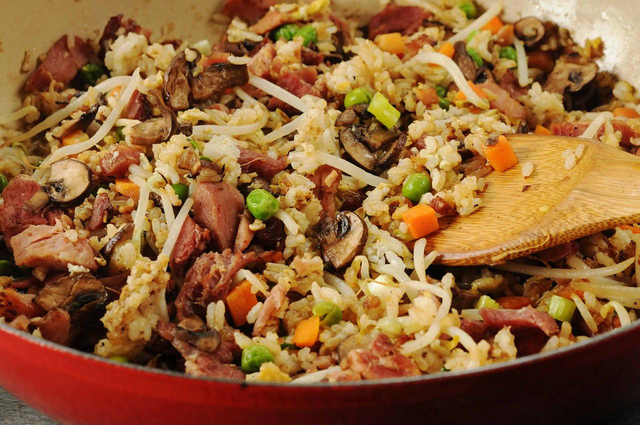 Ham and Rice Skillet