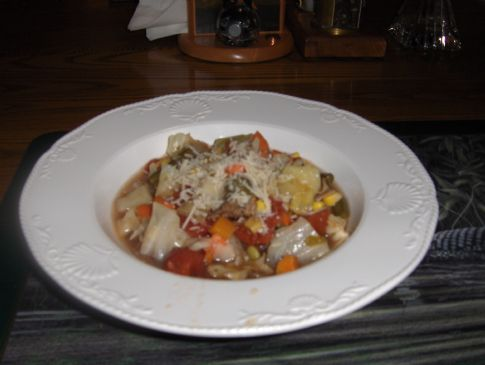 Hamburger Minestrone Soup (South Beach Diet)