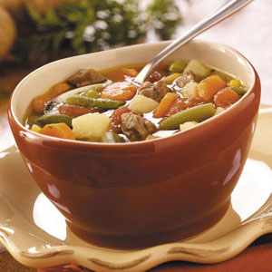 Hamburger Vegetable Soup - Crock Pot