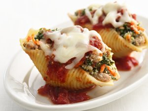 """Healthified"" Sausage-Stuffed Shells"