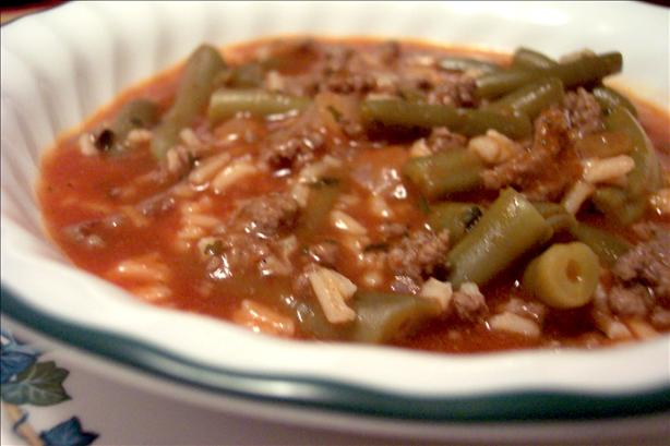 Healthy Hamburger and Green Bean Soup