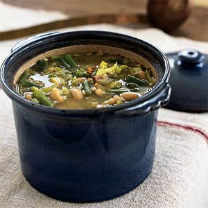 Hearty Minestrone With Barley, Sage, and Beans