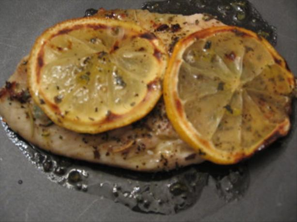 Herb Flounder With Lemon Vinaigrette