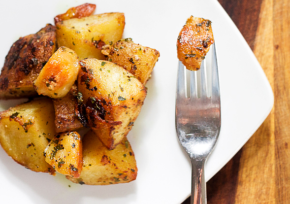 Herb Mustard Roast Potatoes