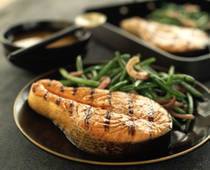 Honey Mustard Grilled Salmon or Tuna Steaks