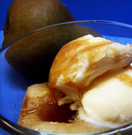 Honey Roasted Pears With Brandy Vanilla Ice Cream