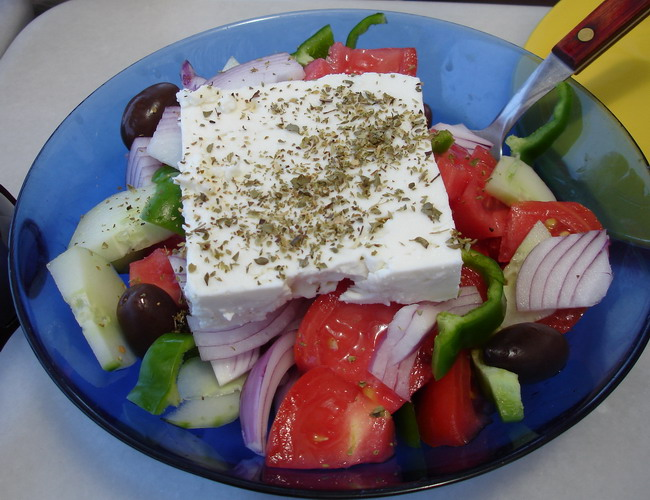 Horiatiki (Greek Villagers Salad)