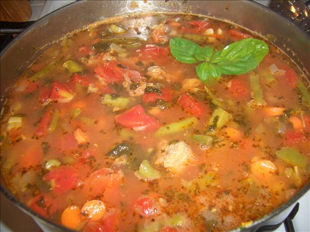 Hot Italian Sausage Soup