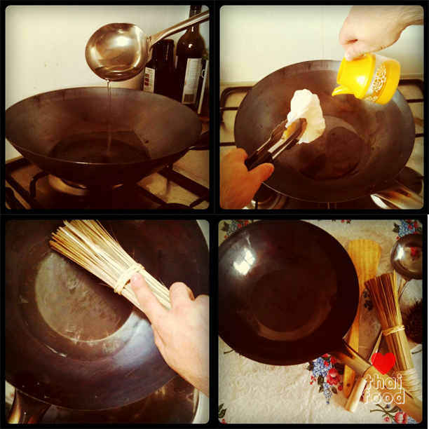 Instructions for Cleaning & Care for Your Wok