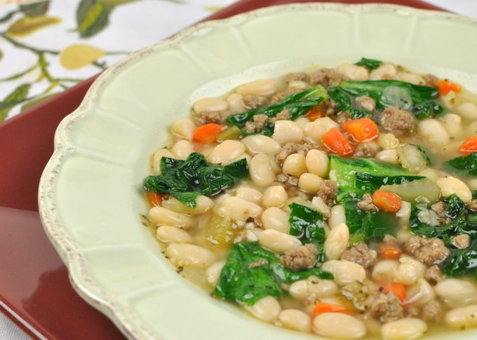 Italian Butternut Squash and White Bean Soup With Greens