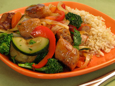 Italian Sausage and Vegetable Saute