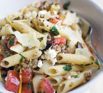 Lamb, Lemon and Olive Pasta