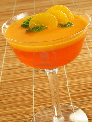 Layered Orange Gelatin